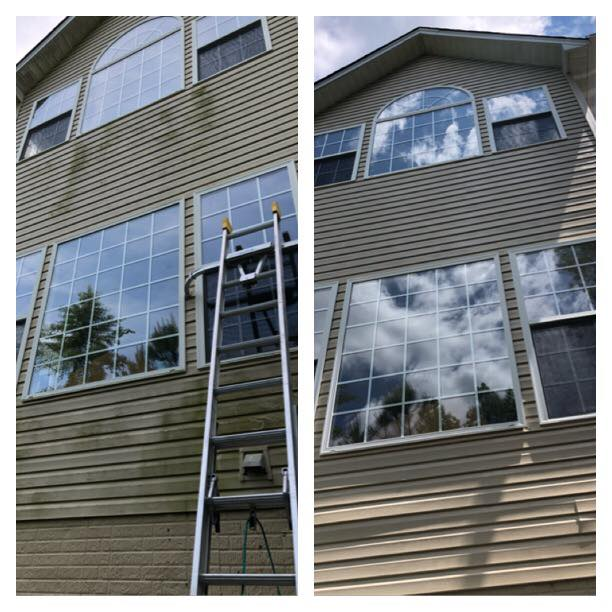 Calvert Siding Before After Cleaning